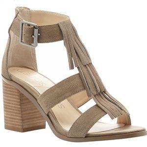 Sole Society 'Delilah' fringe block heel sandals